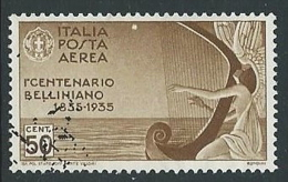 1935 REGNO USATO POSTA AEREA BELLINI 50 CENT - U21-10 - Posta Aerea
