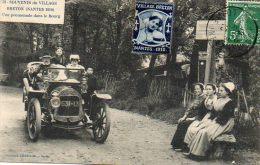 CPA - NANTES (44) - Souvenir Du Village Breton En 1910 - Costumes, Folklore Et Promenade Dans Le Bourg - Nantes