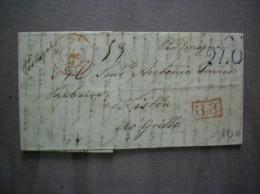 CACHET BLEU 20 LISBOA 12 PORTUGAL PAR ESPAGNE CACHETS ROUGES 7 DEC 45 ET P.P - Postmark Collection
