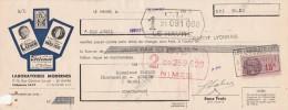 Lettre Change 16/4/1937 Vermifuge LUNE Antipoux MARIE ROSE Vin FRILEUSE LE HAVRE Seine Maritime Pour Anduze 30 - Lettres De Change