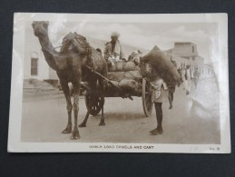 YEMEN - Maala Load Camels And Cart - Cp Voyagée Et Passée à La Censure De Aden - à Voir  P 14400 - Jemen