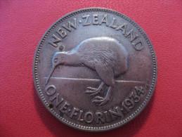 Nouvelle-Zélande - One Florin 1934 George V 5375 - New Zealand