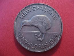 Nouvelle-Zélande - One Florin 1934 George V 5379 - New Zealand
