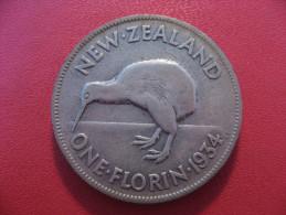 Nouvelle-Zélande - One Florin 1934 George V 5389 - New Zealand