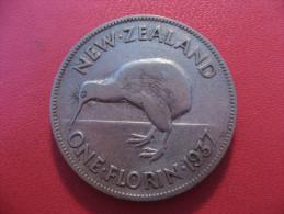 Nouvelle-Zélande - One Florin 1937 George VI 5393 - New Zealand
