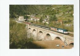 LA TENDA EXPRESS S REMO BERNE DU BLS TRACE PAR 2 BB DIESEL D445 DES FS TRAVERSE LE VIADUC DE ST DALMAS DE TENDE 2001 - Frankreich