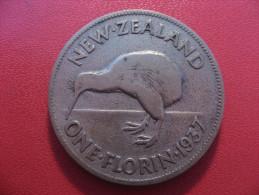 Nouvelle-Zélande - One Florin 1937 George VI 5397 - New Zealand
