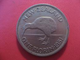 Nouvelle-Zélande - One Florin 1951 George VI 5367 - New Zealand