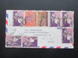 Süd Vietnam 1968 MiF Konfuzius Jahr. Brief In Die Schweiz. Luftpost. Kontum - Vietnam