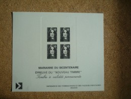 """Epreuve Du """"nouveau Timbre"""" Marianne Du Bicentenaire - Epreuves De Luxe"""