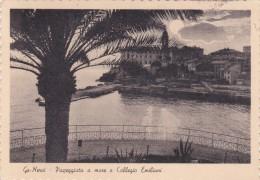 Italy 1950 Used Postcard Nervi Passeggiata A Mare, Postmark  Gioia Di Vivere Profumo Orchidea Bianca - 6. 1946-.. Repubblica