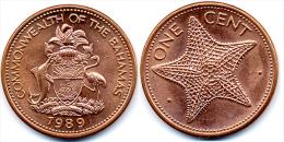 1989 Bahamas One Cent Coin - Bahamas