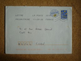 Enveloppe Prêt-à-poster Pour Corn - PAP: Aufdrucke/Blaues Logo
