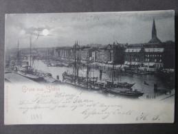 AK STETTIN Mondschein 1897  /// D*18572 - Pommern