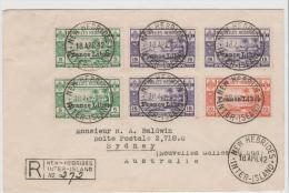 FDI009 / Nouvielles Hebrides France Libre 1942,  Einschreiben Mit Zensur - Französische Legende