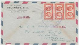 Pan073 /  Panama, 100 Jahrfeier Der Republik 1953 Mit 3-er Streifen - Panama