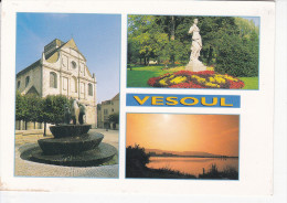 VESOUL (70-Haute Saône) Eglise St Georges, Fontaine, Jardin Anglais, Crépuscule Sur Le Lac, Ed. Combier 1980 Environ - Vesoul