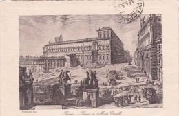 Italy 1950 Used Postcard Roma Piazza Di Monte Cavallo, Postmark Sottoscrivete Buoni Novennali - 6. 1946-.. Repubblica
