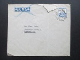 Palestina Luftpostbrief Nach Deutschland. Mit Gebrauchsspuren - Palestine