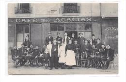 CPA  TOURS  : CAFE DES ACACIAS, Cliché ROMAIN 24 Boulevard Preuilly - Tours