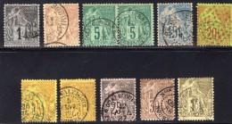 Colonie Française  N° 46/47/49 X2/51/52/53/53/54/55/59  Avec Oblitération Beaux Cachet à Date  TB - Alphée Dubois