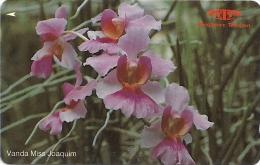 Singapore - Vanda Miss Joaquim, Orchids, 14SIGA, 1991, 840.000ex, Used - Singapur