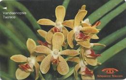 Singapore - Vandaenopsis Twinkle, Orchids, 16SIGB, 1992, 730.000ex, Used - Singapour