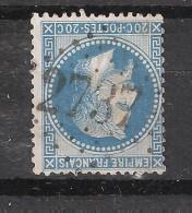 Empire Lauré N° 29 Obl GC 2737 De ORGON , Bouches Du Rhône , INDICE 6 , TB - 1863-1870 Napoleon III With Laurels