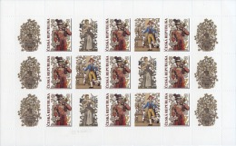 Czech Republic - 2015 - Postal Services In Historic Murals - Mint Stamp Sheet With Personalized Coupons - Ungebraucht