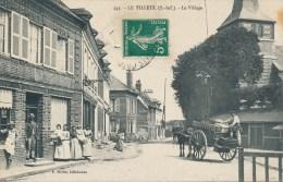 Le Tilleul (76 Seine Maritime) Le Village Devanture Du Tabac Et Attelage Oblitération Criquetot L'Esneval Boite Rurale G - Otros Municipios