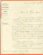 """52 Chaumont """"  Courrier Ministere De L'agriculture , Service Des Mines - Envoyée à Wassy En 1856 - Agriculture"""