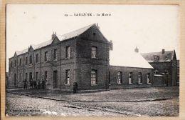 X59084 Peu Commun SAULZOIR Nord La MAIRIE Façade Et Rue 1910s Edition DEFLANDRE HAUTMONT N°19 - Andere Gemeenten