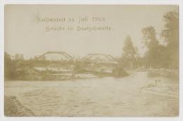 Deutsch Wette - Nowy Świętów, Hochwasser 1903, Brücke (Nowy Swietow, Glucholazy, Flood) - Schlesien