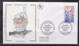 = Cinquantenaire Libération De La Corse Enveloppe 1er Jour 20 Ajaccio Et Bastia 9-10.9.93 N°2829 - 1990-1999