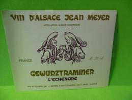 ETIQUETTE DE VIN D ALSACE - Gewurztraminer