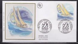 = Les Postiers Au Tour Du Monde Dans La Withbread Enveloppe 1er Jour 50 Cherbourg 25.9.93 N° 2831 - 1990-1999