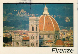 FIRENZE   CATTEDRALE  DI  SANTA  MARIA  DEL  FIORE     MAXI-CARD      ( VIAGGIATA) - Firenze