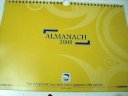Almanach 2008- Algerie Poste- DZ. - Calendriers