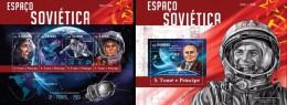 S. Tomè 2015, Soviet Space, 4val +BF - Space