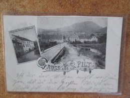 GRUSS AUS ST PILT  HOTEL ZUM REBSTOCK   1899 - Altri Comuni