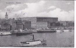 POSTAL DE UN BARCO EN STOCKHOLM - SLOTTET DEL AÑO 1911 (BARCO-SHIP) - Comercio