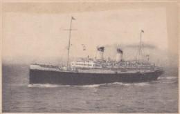 POSTAL DE ITALIA DEL BARCO AUGUSTUS (BARCO-SHIP) - Comercio