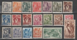 Allemagne - SAARLAND - Freimarken - 1947 - ** - Michel 206/225 - Valeur 7€ - Nuovi