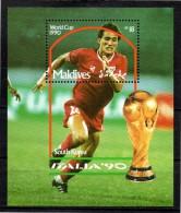 MALDIVES  BF 172  * * ( Coree Du Sud ) (cote 7.50 E)  Cup 1990    Football  Soccer Fussball - Wereldkampioenschap