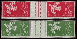 ~~~ Italy Europa CEPT 1961 - Gutter Pair - Pont - Mi. 1113/1114 ZS ** MNH ~~~ - 1960