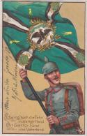 AK - Patriotika - Schwing Hoch Die Fahn ...Feldpostkarte - 1914 - Bad Kissingen - War 1914-18