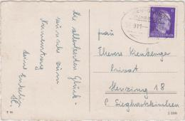 AK - Bahnpoststempel Auf Postkarte - Wien - Gmünd - Zug 911 - 15.10.42 - Deutschland