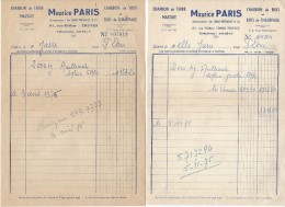 Facture / Charbon / Troyes/Aube / Maurice Paris///1975   FACT138 - Francia