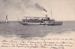 POSTAL DEL BARCO LA FRANCE EN GENEVE - DEPART DE BATEAU DEL AÑO 1902 (BARCO-SHIP) - Comercio