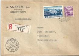 R Brief  Solothurn - Herzogenbuchsee           1938 - Briefe U. Dokumente